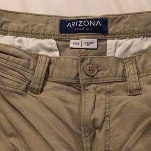 Arizona Khaki flex Shorts 31,  Classic Fit